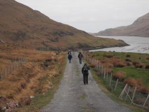 Walking near Killary Harbour